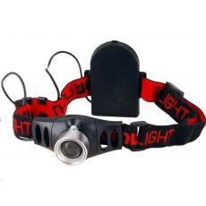 Extol Light čelovka 3W CREE XPE s regulací, svítivost 120lm, dosvit 100m, funkce ZOOM, hliník a ABS plast