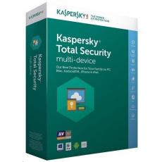 Kaspersky Total Security CZ multi-device, 1 zařízení, 1 rok, nová licence, BOX