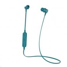 Celly BT stereo sluchátka s mikrofonem a ovládáním, zelená
