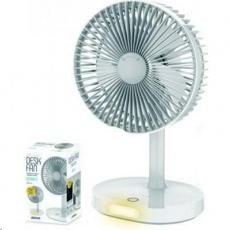 Platinet PRDF0326 stolní přenosný ventilátor nabíjecí 19cm