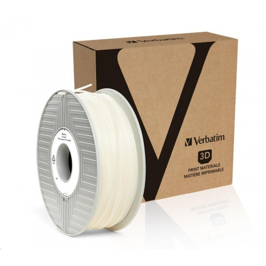 VERBATIM 3D Printer Filament PET 1.75mm, 500g transparent (small reel)