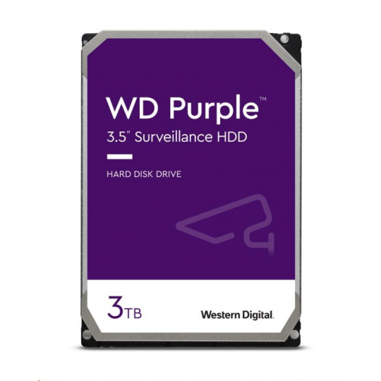 WD PURPLE WD30PURZ 3TB SATA/600 64MB cache, Low Noise
