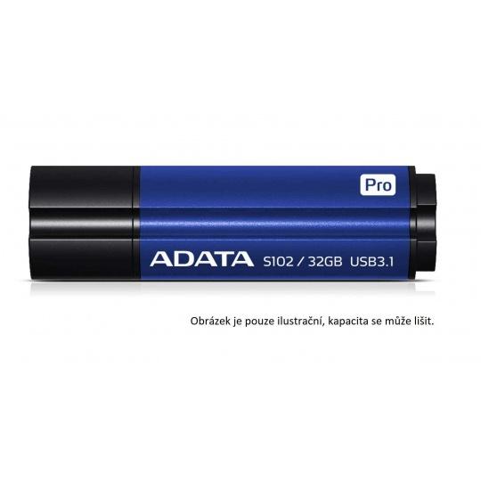 ADATA Flash Disk 64GB Superior S102 Pro, USB 3.1, titan modrá (R:100/W:50 MB/s)