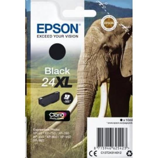 "EPSON ink čer Singlepack ""Slon"" Black 24XL Claria Photo HD Ink"