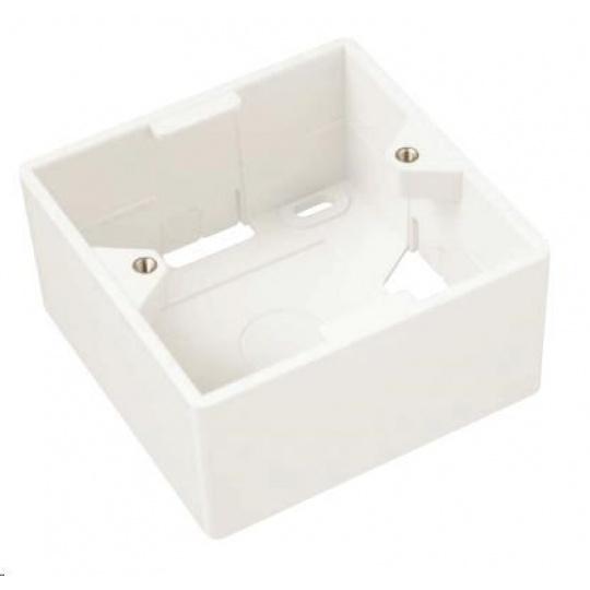 Solarix Krabice/box na omítku pro zásuvky bílý SX9-0-WH