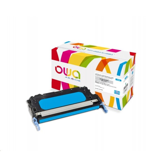 OWA Armor toner pro HP Color Laserjet 3800, 8000 Stran, Q7581A JUMBO, modrá/cyan