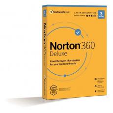 NORTON 360 DELUXE 25GB +VPN 1 uživatel pro 3 zařízení na 1rok ESD