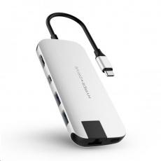 HyperDrive SLIM USB-C Hub - Stříbrný