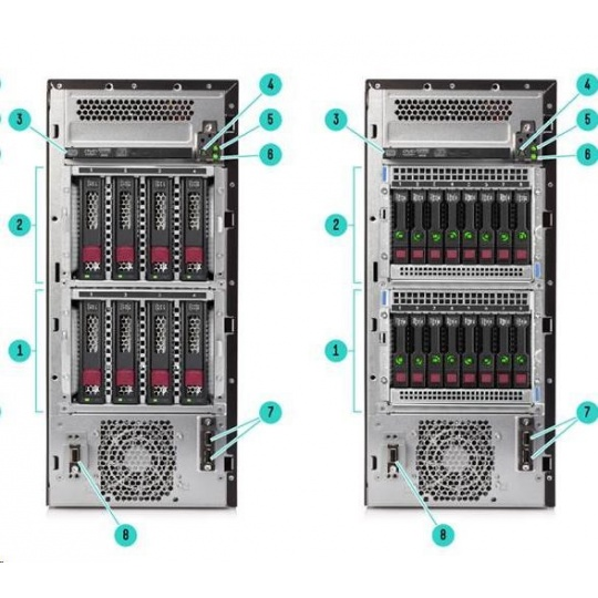 HPE PL ML110g10 3204 (1.9G/6C/8M/2133) 1x16G S100i 4LFF-HP 550W1/2 noDVD T4.5U NBD333