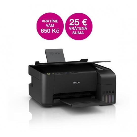 EPSON tiskárna ink EcoTank L3110, 3v1, A4, 1440x5760dpi, 33ppm, USB, 3 roky záruka po registraci