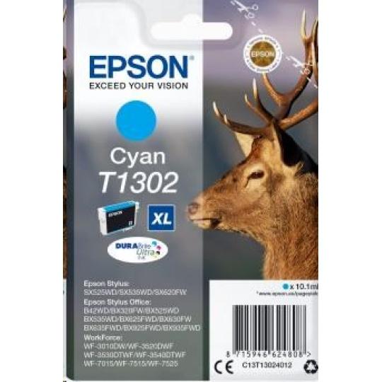"EPSON ink bar Singlepack ""Jelen"" Cyan T1302 DURABrite Ultra Ink (10,1 ml)"