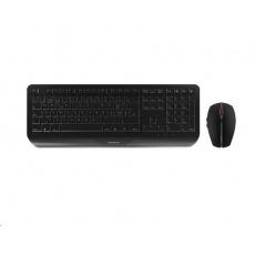 CHERRY set klávesnice + myš Gentix Desktop, bezdrátová, CZ, černá