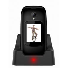 Bazar - EVOLVEO EasyPhone FD, mobilní telefon pro seniory s nabíjecím stojánkem (černá barva), z opravy