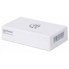 Manhattan Ethernet přepínač, Ethernet switch, Desktop Size, Plastic, IEEE 802.3az, bílá