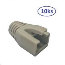 Krytka pro konektor RJ45 10ks, s otvorem pro kabel 7mm (CAT6A např. Belden 10GXE01.07500)