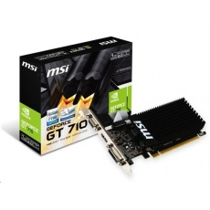 MSI VGA NVIDIA GeForce GT 710 1GD3H LP, GT710, GDDR3 1GB, DVI-I,HDMI,LP, pasiv