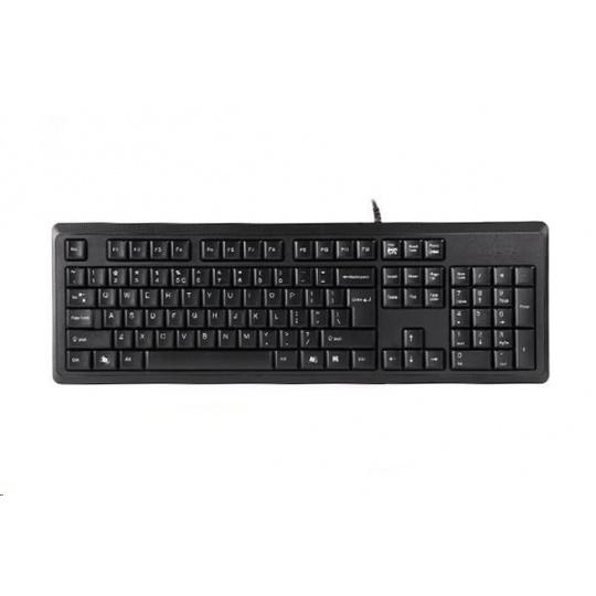 A4tech KR-92, klávesnice, CZ/US, USB, černá