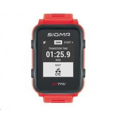 Sigma pulsmetr iD.TRI Set neon červená