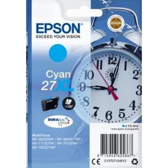 "EPSON ink bar Singlepack ""Budík"" Cyan 27XL DURABrite Ultra Ink"