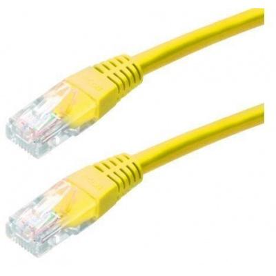 Patch kabel Cat5E, UTP - 3m, žlutý