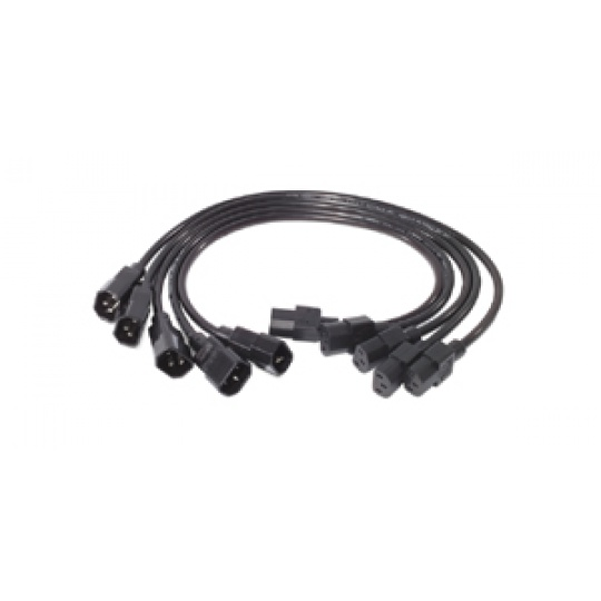 APC Power Cord Kit, 10A, 100-230V, 2', (5) C13 to C14