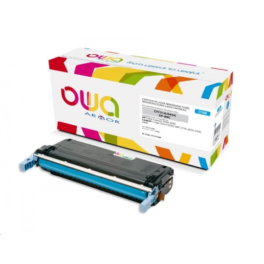 OWA Armor toner pro HP Color Laserjet 5500, 5550, 12000 Stran, C9731A, modrá/cyan