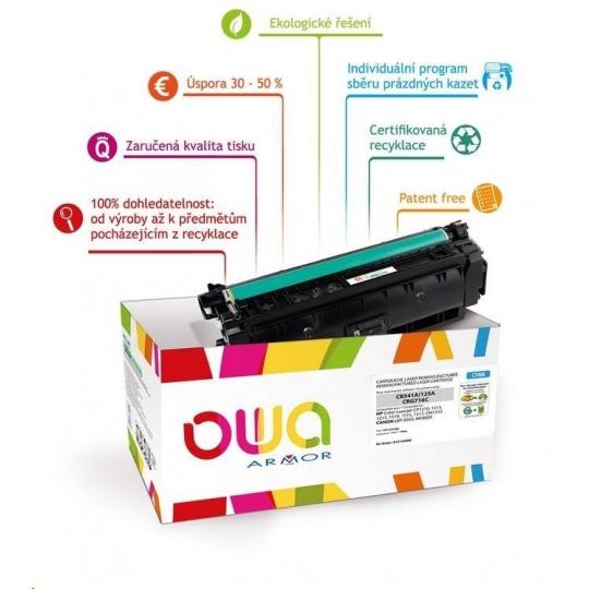 OWA Armor toner pro HP Color Laserjet Ese M855, 31500 Stran, CF311A, modrá/cyan