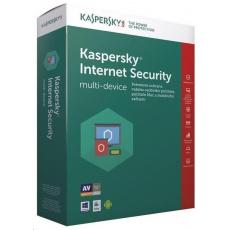 Kaspersky Internet Security CZ multi-device, 3 zařízení, 1 rok, nová licence + Safe Kids 6 měsíců, BOX