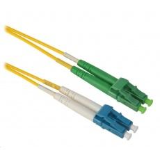 Duplexní patch kabel SM 9/125, OS2, LC(UPC)-LC(APC),  LS0H, 8m
