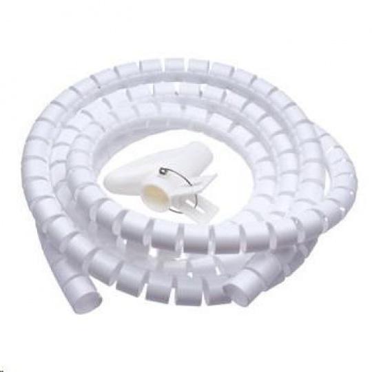 CONNECT IT trubice pro vedení kabelů WINDER, 2,5m x 20mm, bílá (organizér kabelů)