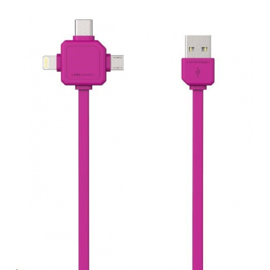 Allocacoc USBcable USB-C Pink