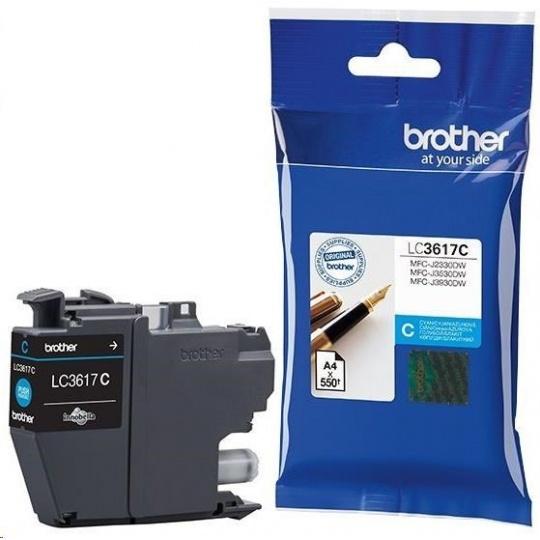 BROTHER INK LC-3617C azurový, cyan - 550stran, J2330, J3530, J3930