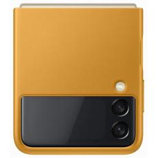 Samsung kožený zadní kryt EF-VF711LYE pro Galaxy Z Flip3, žlutá