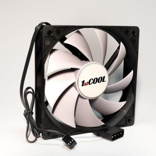 1stCOOL ventilátor SILENT, 12 cm Black/White 3pin/Molex