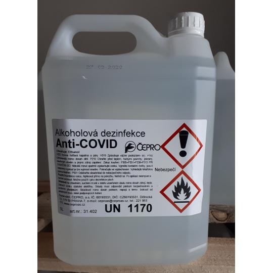 Alkoholová dezinfekce Anti-COVID 5L