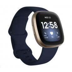 Fitbit Versa 3 - Midnight/Soft Gold Aluminum