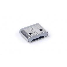 SMARTKEEPER Mini USB Port Lock Type C 4 - 1x klíč + 4x záslepka, šedá