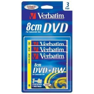 VERBATIM DVD+RW(3-Pack)8cm/BlisterPack//4x/30min.//1.4GB