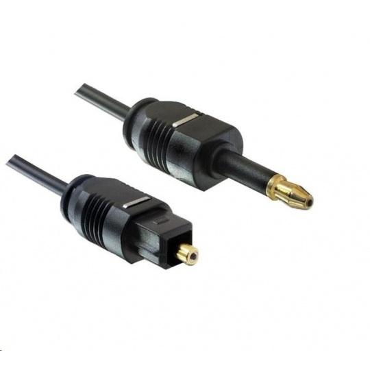 PREMIUMCORD Kabel 3,5mm mini Toslink - Toslink, OD:2.2mm, délka 2m