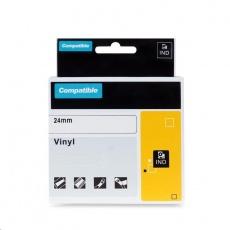 PRINTLINE kompatibilní páska s DYMO 1805426, 24mm x 5,5m, bílý tisk / zelený podklad, RHINO, vinylová