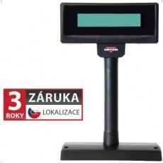 Virtuos zákaznický display FL-2024MW, 2 x 20 znaků 9mm, RS232, včetně napájení +12V, černý