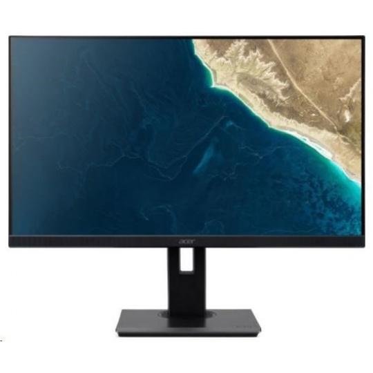 """ACER LCD B277BMIPRZX, 69cm(27""""), 100M:1, 250cd/m2, 178°/178°, 4ms, HDMI, VGA, USB, DP, black,3r on-site"""