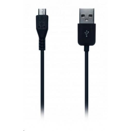 CONNECT IT Kabel microUSB (Samsung/HTC kompatibilní) 1m pro telefon, černý