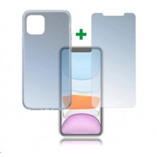 4smarts 360° Protection set (tvrzené sklo UltraSonic a gelový zadní kryt) pro Apple iPhone 11