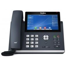 "Yealink SIP-T48U IP telefon, 7"" 800x480 barevný dotykový, 2x RJ45 10/100/1000, PoE, 16x SIP, 1x USB, bez adaptéru"