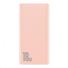 Baseus Bipow powerbanka PD + QC 10000mAh 18W, růžová