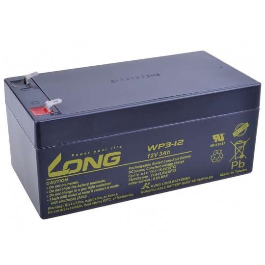 Long 12V 3Ah olověný akumulátor F1