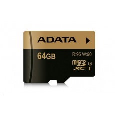 ADATA MicroSDXC karta 64GB XPG UHS-I U3 (R:95/W:90 MB/s) + SD adaptér