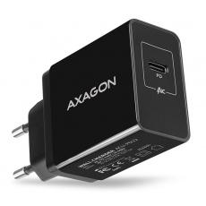 AXAGON ACU-PD22, PD nabíječka do sítě, 1x USB-C port, PD3.0/QC3.0/AFC/FCP/Apple, 22W