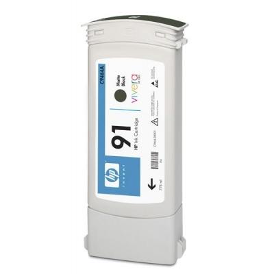 HP 91 Black matte DJ Ink Cart, 775 ml, C9464A